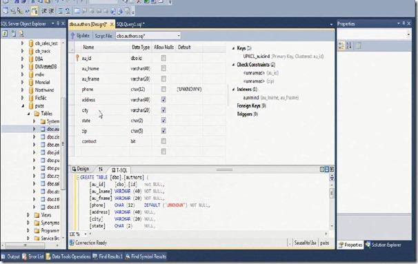 SQLCreateScript