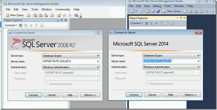 SQL Server 2008 and 2014 side by side | Chanmingman's Blog