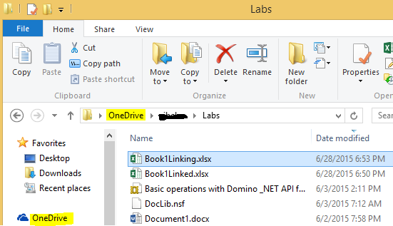Linking Excel Cell to another Excel file in OneDrive