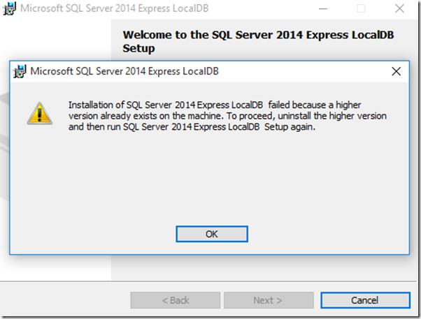 sql server 2014 express management studio