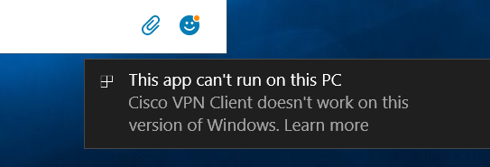 cisco anyconnect client windows 10 1709
