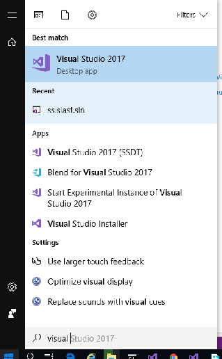 SSDT Visual Studio 2017 Installation registry error