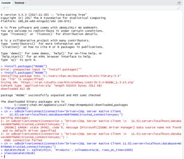 Connect R to Microsoft SQL Server | Chanmingman's Blog