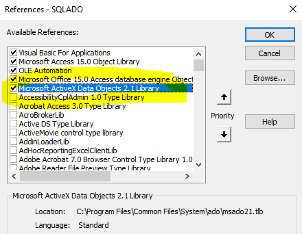 MS Access VBA accessing to SQL Server | Chanmingman's Blog
